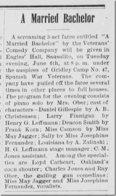 Sausalito News, June 3, 1911