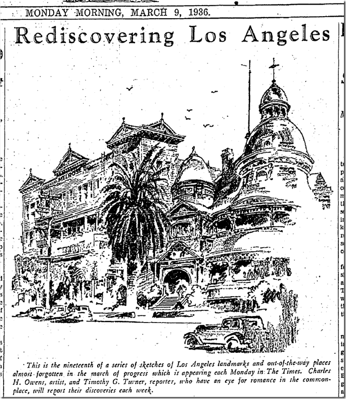 March 9, 1936, Rediscovering Los Angeles