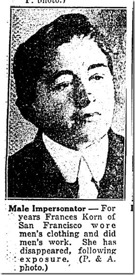 Sept. 14, 1928, Frances Korn