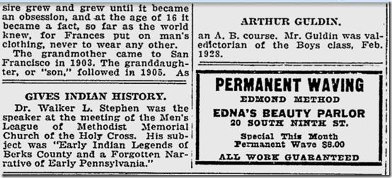 Reading Eagle, Sept. 14, 1928