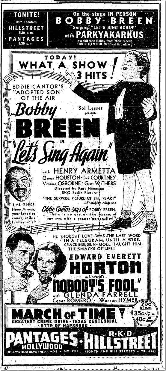 June 10, 1936, Henry Armetta