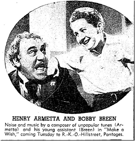 Aug. 22, 1937, Henry Armetta