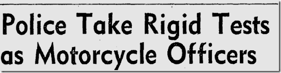 Dec. 12, 1946, Motorcycle Officers