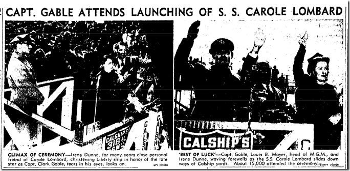 Jan. 16, 1944, S.S. Carole Lombard