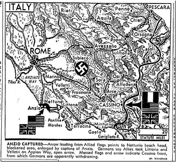 Jan. 24, 1944, Anzio
