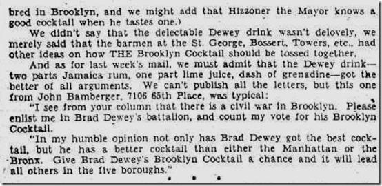 March 7, 1937, Brooklyn Cocktail