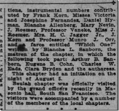 San Francisco Call, Aug. 18, 1907