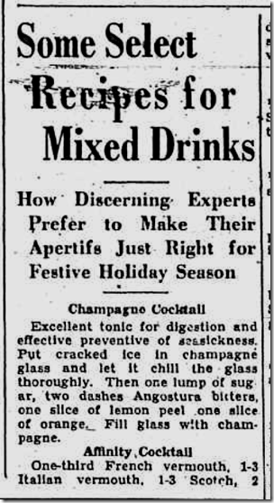 Dec. 20 1934, Holiday Drinks