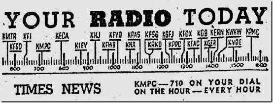 Radio Dial, 1944