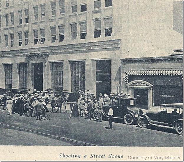 Filming a Street Scene