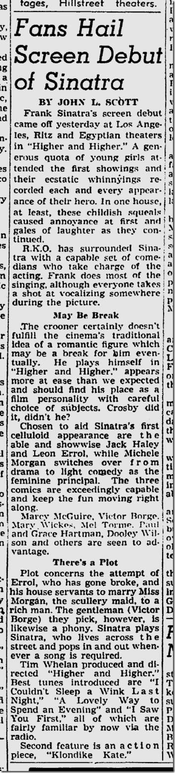Jan. 29, 1944, Sinatra