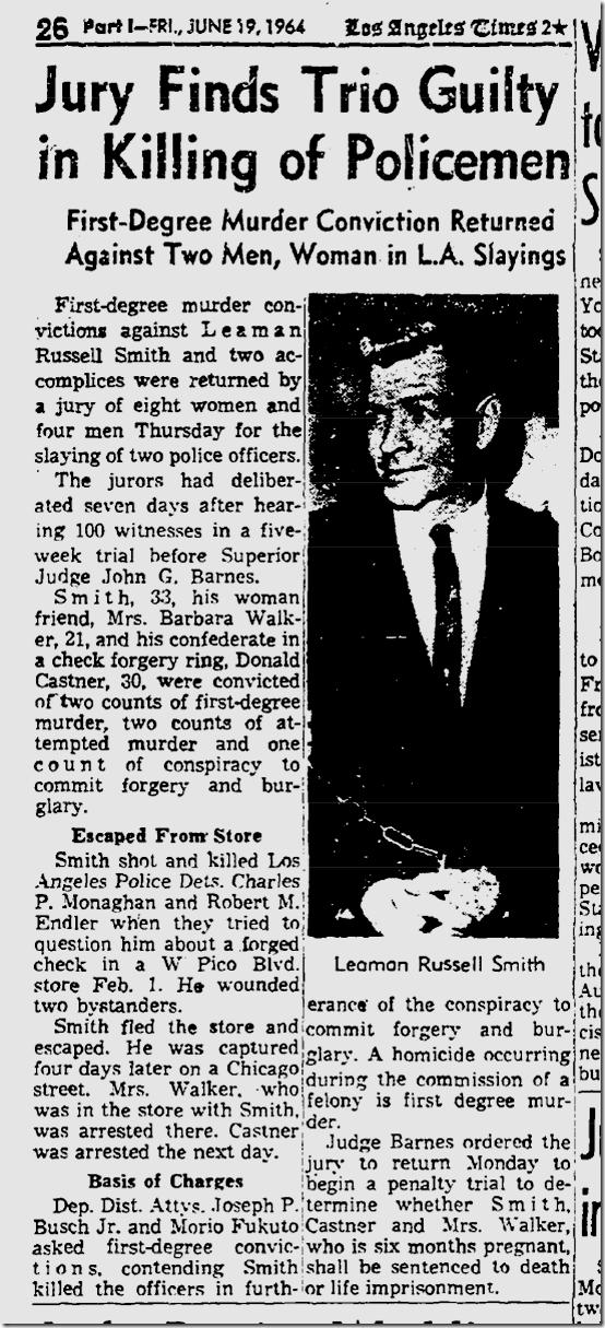 June 19, 1964, Endler and Monaghan