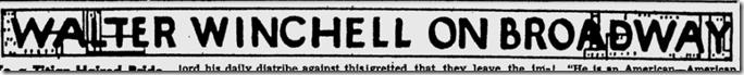 Fb. 26, 1944, Walter Winchell