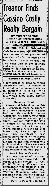 Feb. 11, 1944, Tom Treanor
