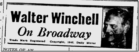 Feb. 22, 1944, Walter Winchell