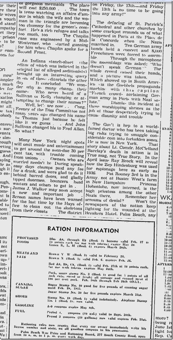 Feb. 23, 1944, Walter Winchell