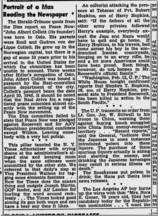 Feb. 24, 1944, Walter Winchell on Broadway