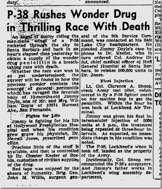 Feb. 11, 1940, Penecillin