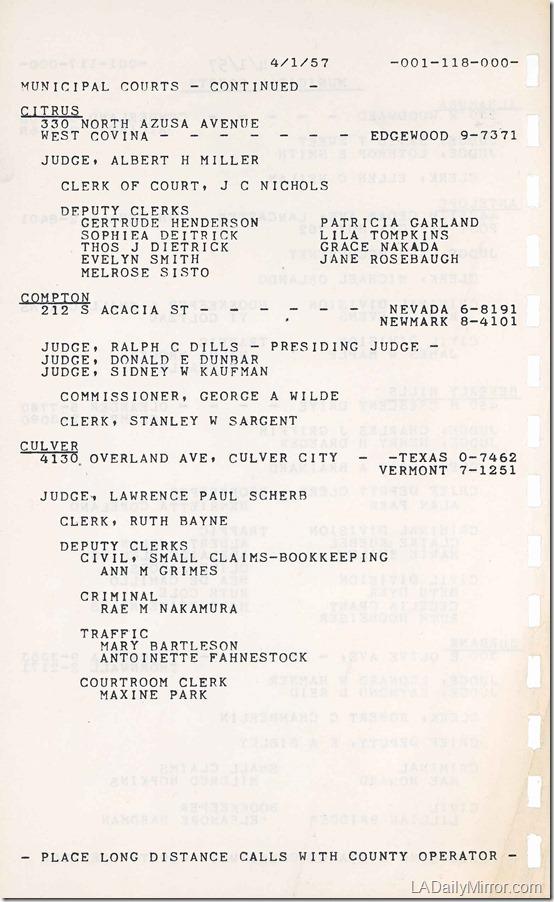 1957 Phone Book