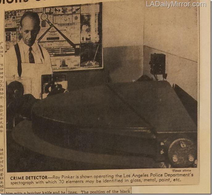 March 10, 1946, LAPD Crime Lab