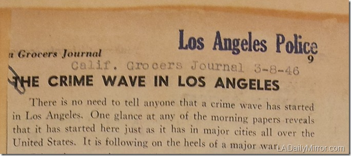 March 8, 1946, L.A. Crime Wave