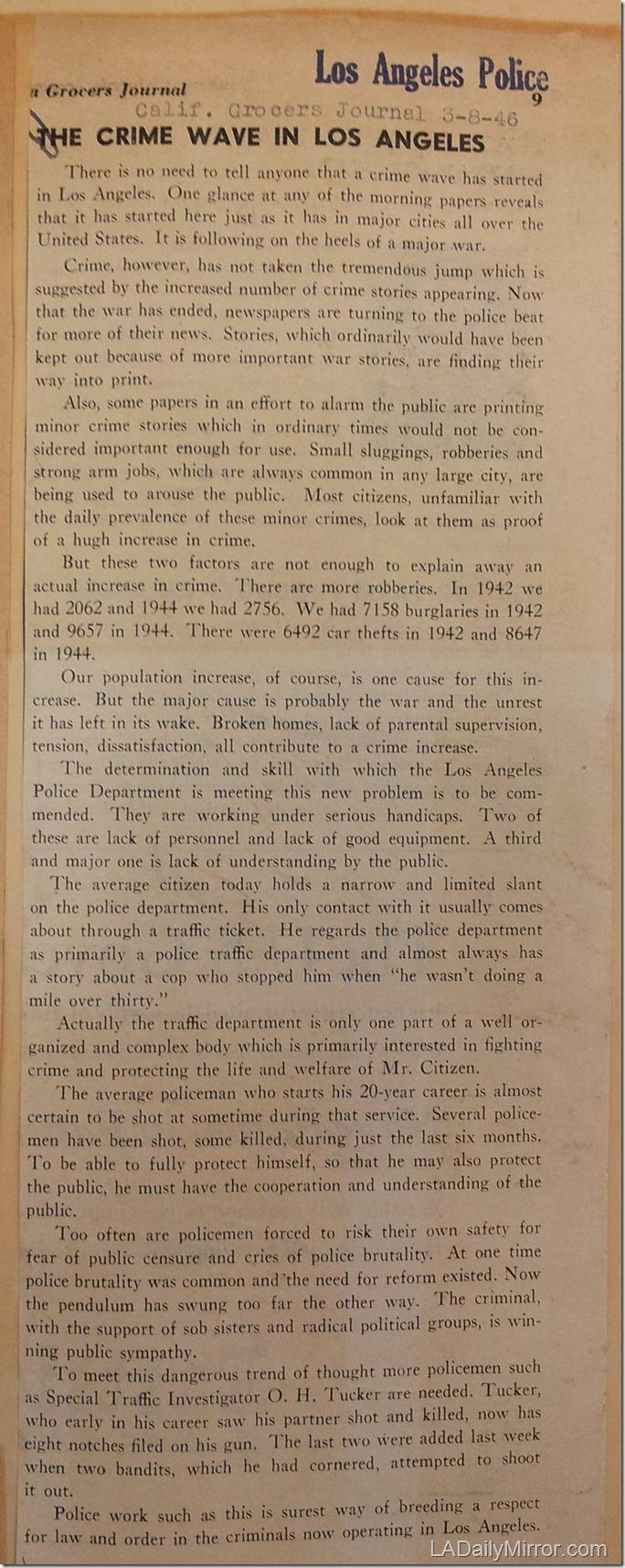 March 8, 1946, L.A. Crime Wave