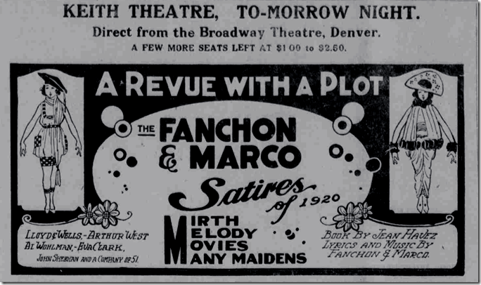 Oct. 29, 1920, Fanchon and Marco