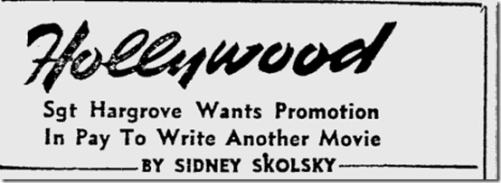 April 4, 1944, Sidney Skolsky