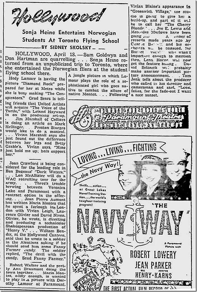 April 8, 1944, Skolsky