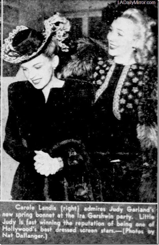 April 30, 1944, Carole Landis
