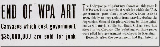 April 17, 1944, WPA Art