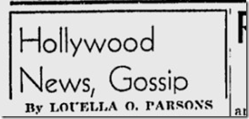 April 15, 1944, Louella Parsons