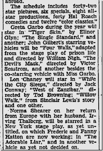 May 5, 1928, MGM