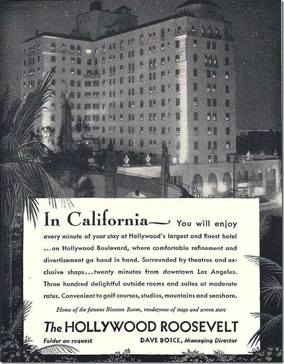 Roosevelt Hotel ad