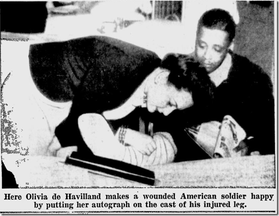 May 21, 1944, Olivia De Havilland