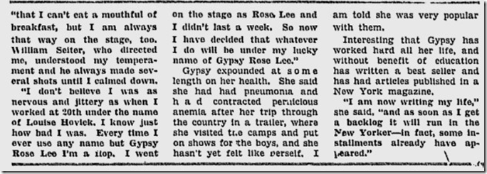 May 28, 1944, Louella Parsons