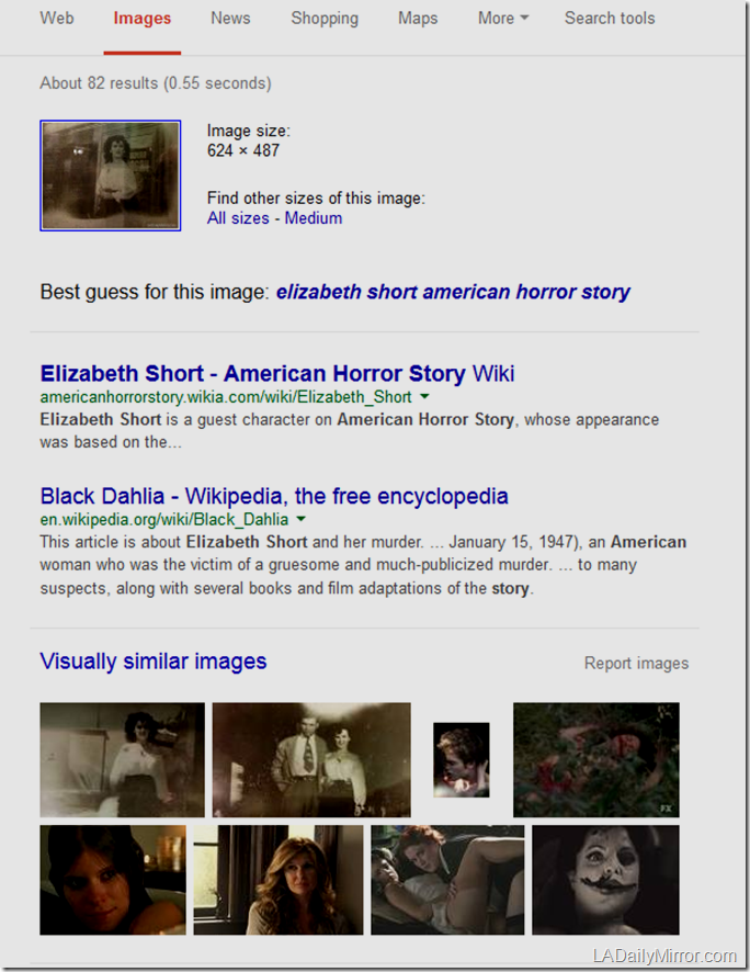 Elizabeth Short swiped image