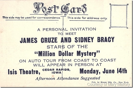 Sidney Bracy James Cruze Tour