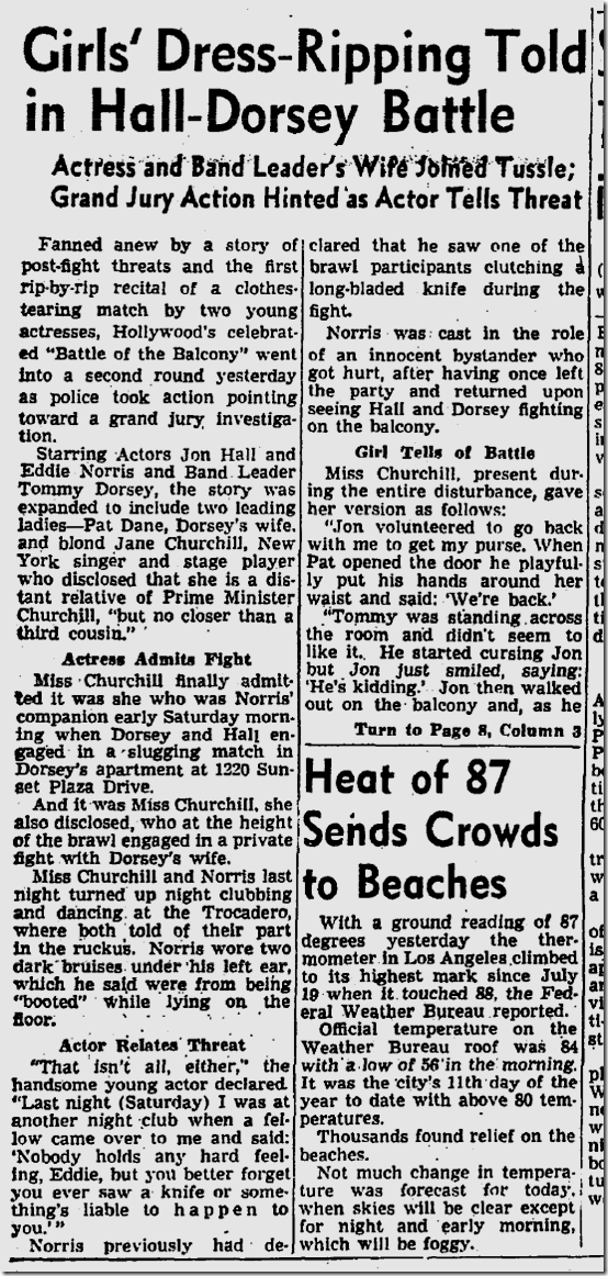 Aug. 7, 1944, Jon Hall, Tommy Dorsey