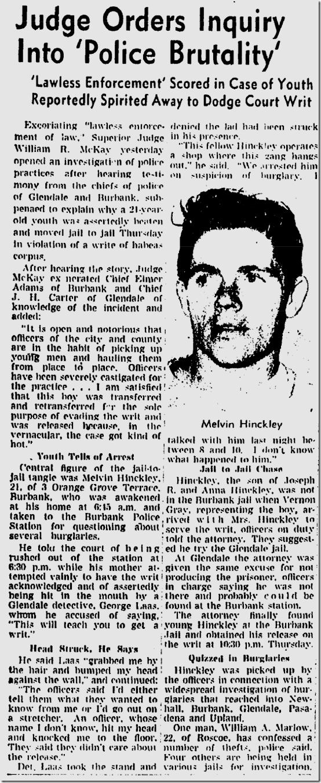 July 1, 1944, Police Brutality