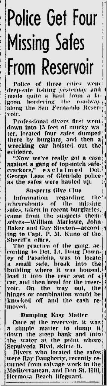July 3, 1944, Safecrackers