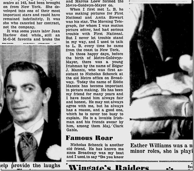 June 18, 1944, Louella Parsons