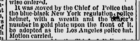 Feb. 16, 1888, Police Helmets