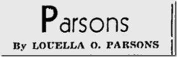 June 20, 1944, Louella Parons