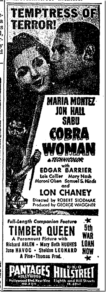 June 12, 1944, Cobra Woman