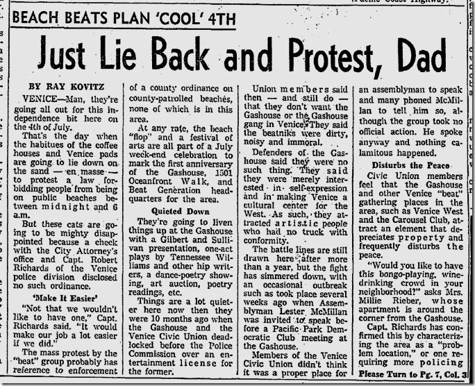 June 26, 1960, Venice Protest