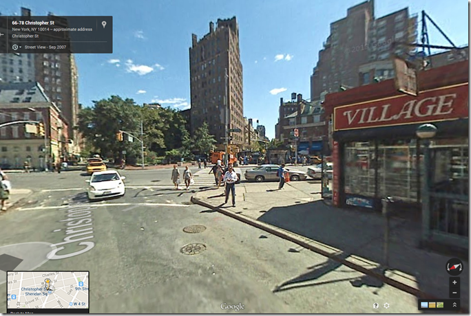 Seventh Avenue and Christopher Street