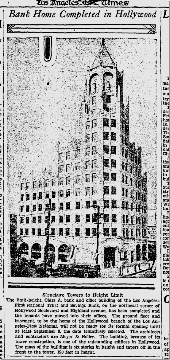 July 1, 1928, First National Bank