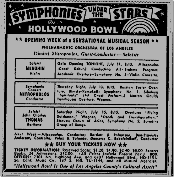 July 11, 1944, Hollywood Bowl