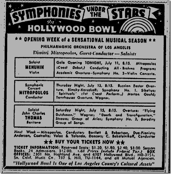 July 11, 1944, Hollywood Bowl